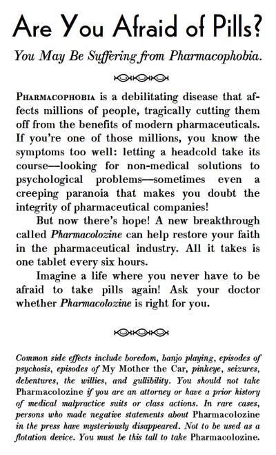 pharmacophobia