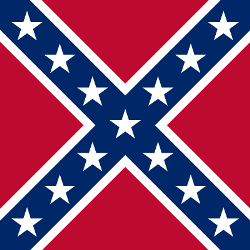 Confederate battle flag.